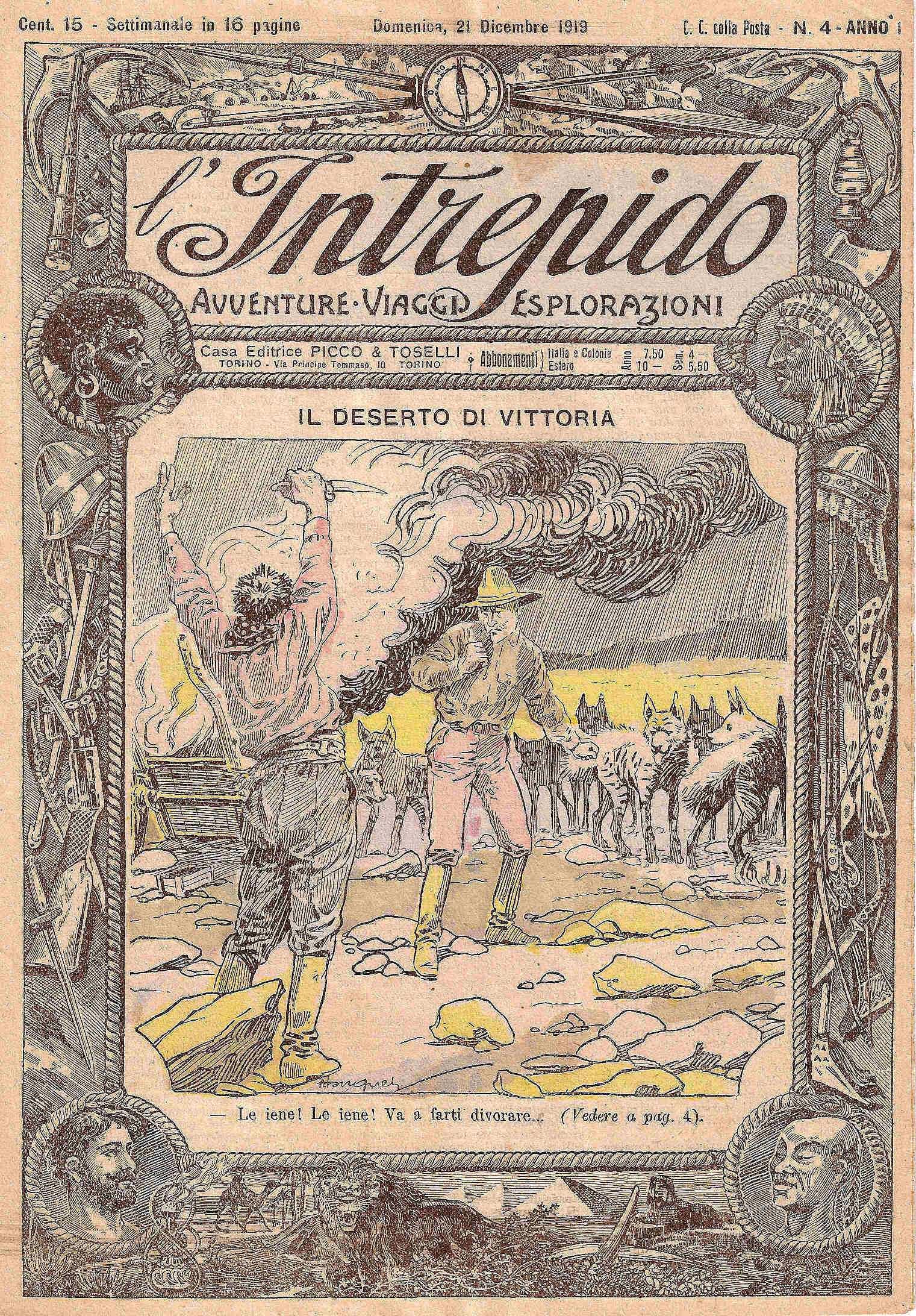 L'INTREPIDO - Avventure Viaggi Esplorazioni (anno I? dal fasc. n. 1 al n. 57)