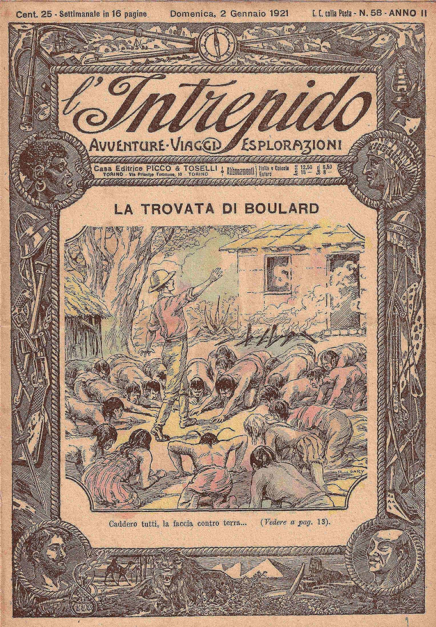 L'INTREPIDO - Avventure Viaggi Esplorazioni (anno II? dal fasc. n. 57 al n. 109)