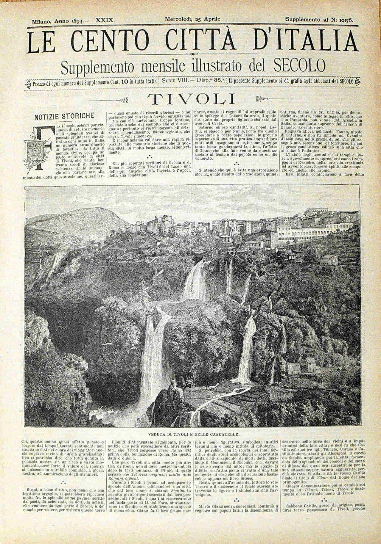 Le cento citt? d'Italia - TIVOLI