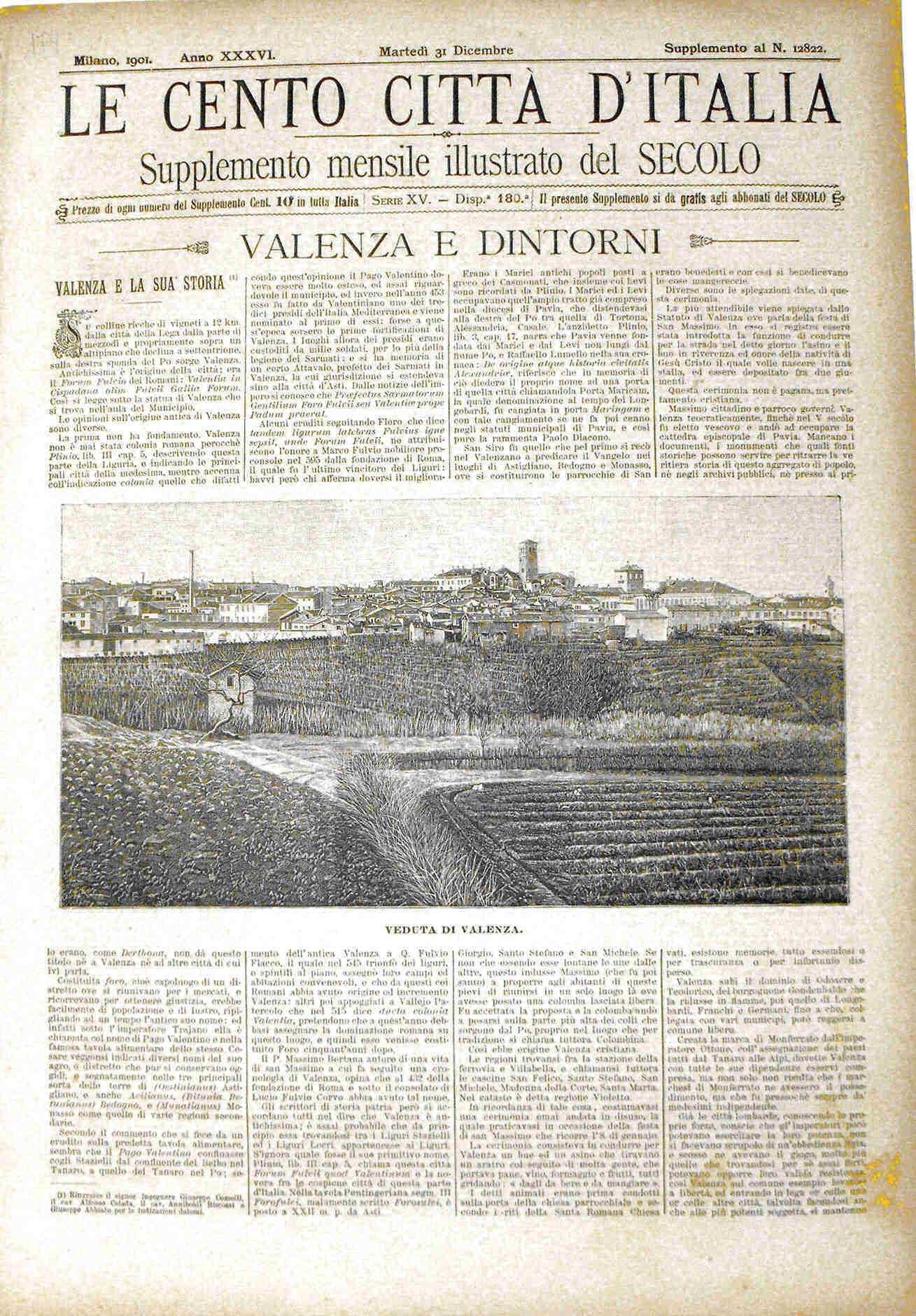 Le cento citt? d'Italia - VALENZA E DINTORNI