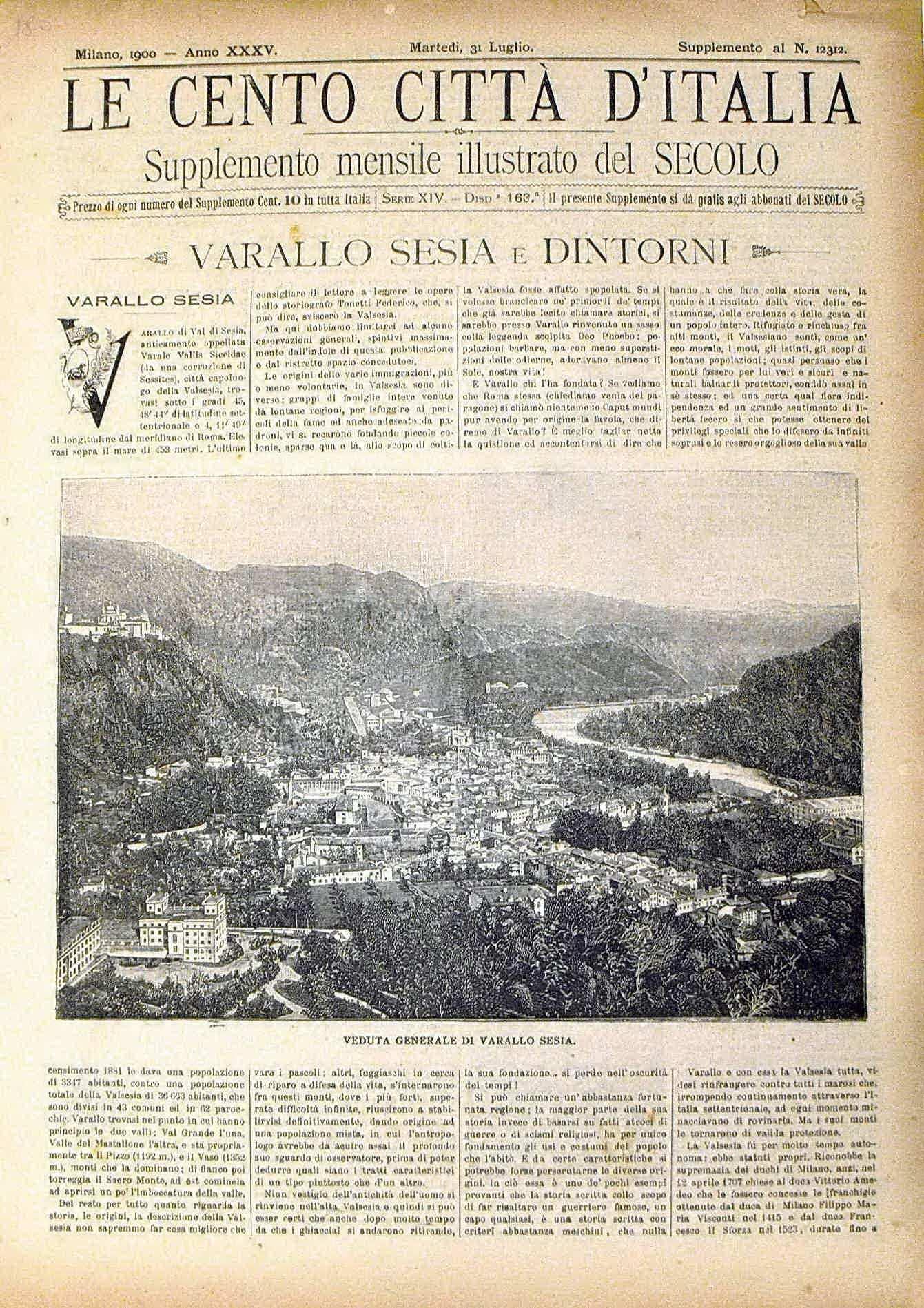 Le cento citt? d'Italia - VARALLO SESIA E DINTORNI