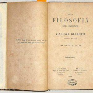DELLA FILOSOFIA DELLE RIVELAZIONI - Volume unico