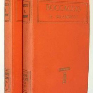 BOCCACCIO - IL DECAMERONE con uno studio di Adolfo Bartoli (volumi I e II)