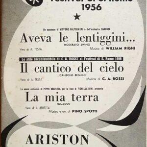 AVEVA LE LENTIGGINI (moderato Swing) - IL CANTICO DEL CIELO (canzone-beguine) - LA MIA TERRA (slow)